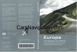 2012 Audi RNS-E Navigation Europe Central West  DVD