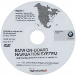 2012 BMW North American Map DVD Professional Region 2 (West) DVD Navigation