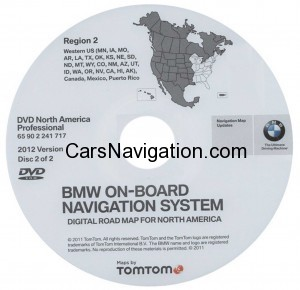 2012 BMW North American Map DVD Professional Region 2