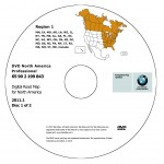 2011 BMW North American Map DVD Professional Region 1 (East) DVD Car Navigation