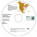 2011 BMW North American Map DVD Professional Region 2 (West) DVD Car Navigation