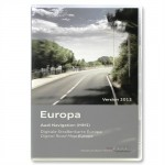 Audi Europe Navigation DVD For MMI 2G Systems 2012