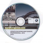 2012 BMW Navigation DVD 1 Road Map Europe PROFESSIONAL Western Europe