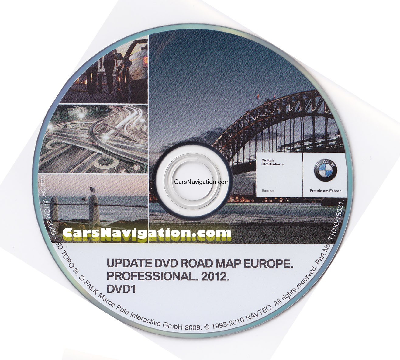 2012 bmw navigation dvd 1 road map europe professional. Black Bedroom Furniture Sets. Home Design Ideas