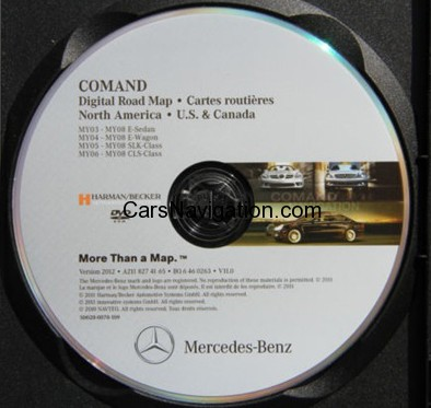2012 Mercedes-Benz North America-Canada Map DVD Harman Becker Comand NTG1 v.11
