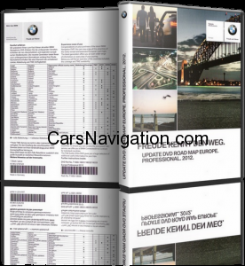 2012 BMW Professional DVD-1 Western Europe
