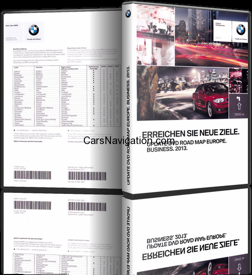 bmw navigation dvd road map europe business 2013  free