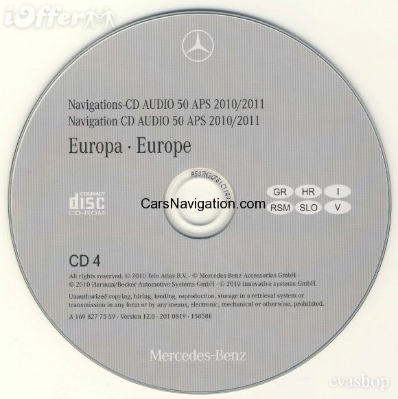 2012 mercedes europa audio 50 aps version 12 0 ntg1 5 cd version car navigation dvd maps. Black Bedroom Furniture Sets. Home Design Ideas