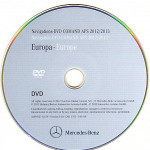 2012-2013 Mercedes Comand DVD EUROPE APS NTG1 V.13
