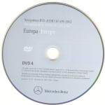 2012 Europa Mercedes DVD Audio 50 APS NTG 4-212 v.8.0 DVD-4