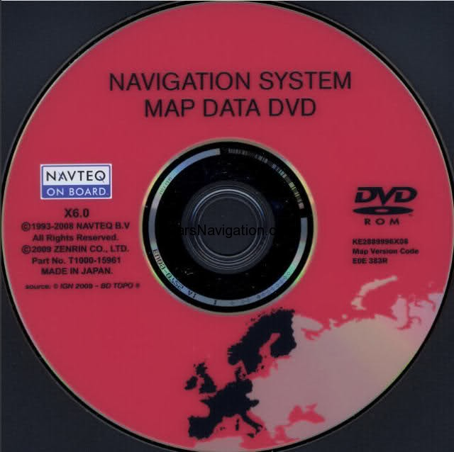 Car Navigation DVD Maps