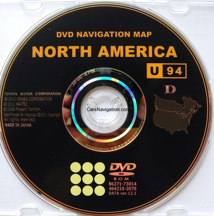 86271 Gen06 12 Car Navigation Dvd Maps