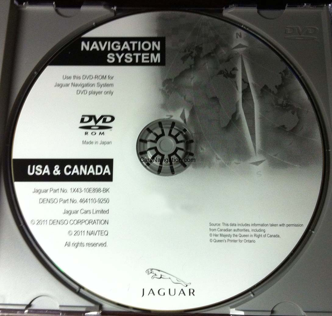 2014 Jaguar XK/XF DVD Navigation System Maps Update