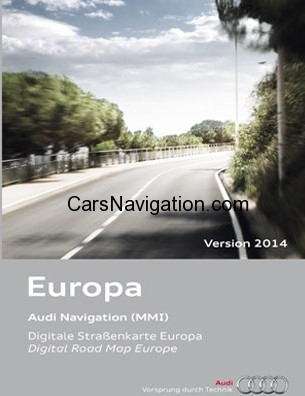 AUDI Navigation MMI 2G Europe DVD 2014