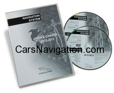 JAGUAR XK/XF - NORTH AMERICA MAP DVD VERSION 2013-2014