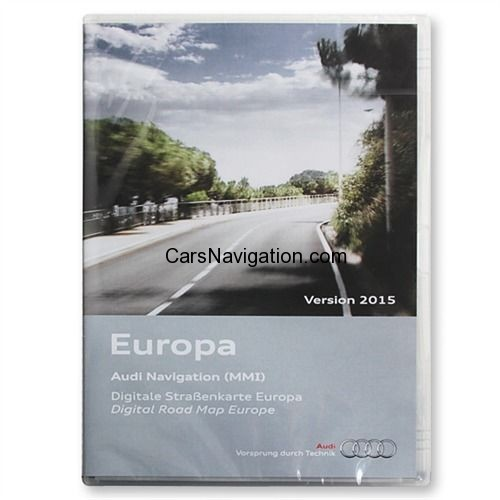 AUDI Navigation MMI 2G Europe DVD 2015 HIGH
