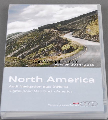 2015 Audi Navigation Plus RNS-E North America – Canada p/n 8P0060884CA
