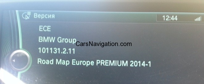 2014 BMW CIC NAVIGATION PREMIUM EUROPE ROAD MAP 2014-1