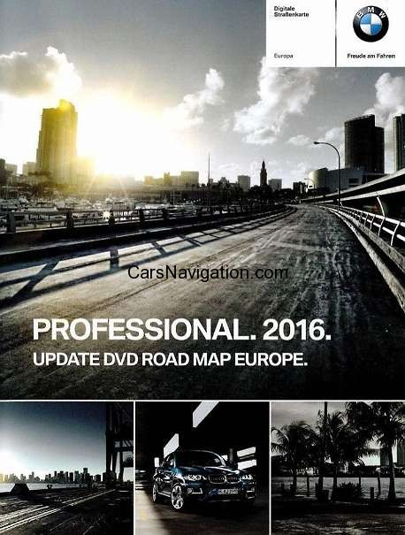 2016 BMW Navigation DVD Road Map Europe PROFESSIONAL