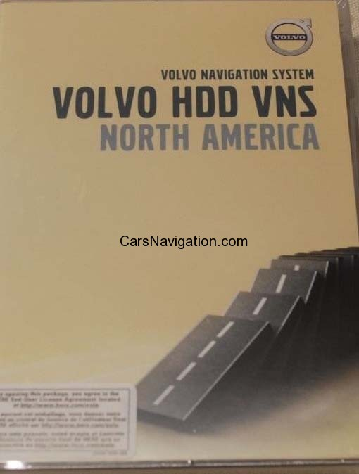 2015 VOLVO NORTH AMERICA MAP DVD FOR HDD VNS VERSION