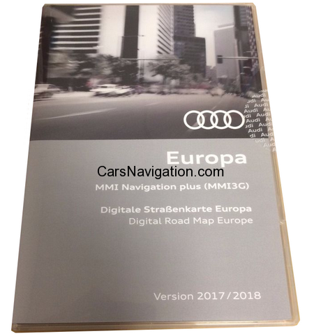 2018 AUDI NAVIGATION EUROPE MMI 3G HDD VERSION 8R0060884EM ECE 6.25.3