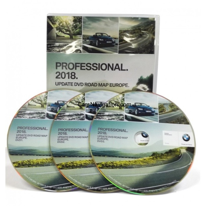2018 BMW Navigation DVD Road Map Europe PROFESSIONAL – Car ...