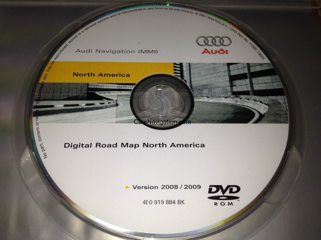 Audi MMI Navigation System DVD Map North America