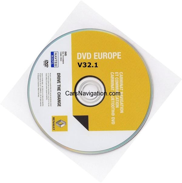 2012-2013 Renault Carminat Navigation Communication - Europe V32.1 MapCare