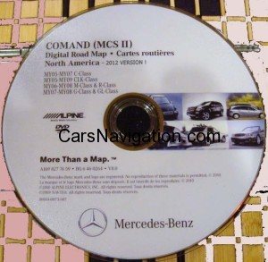 2012 MCS2 Mercedes Benz NAvigation DVD