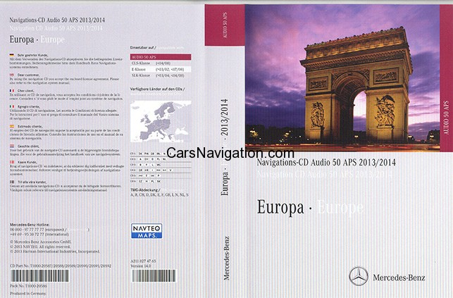 Navigation CD Audio 50 APS NTG1 Europa version 14. 2013/2014