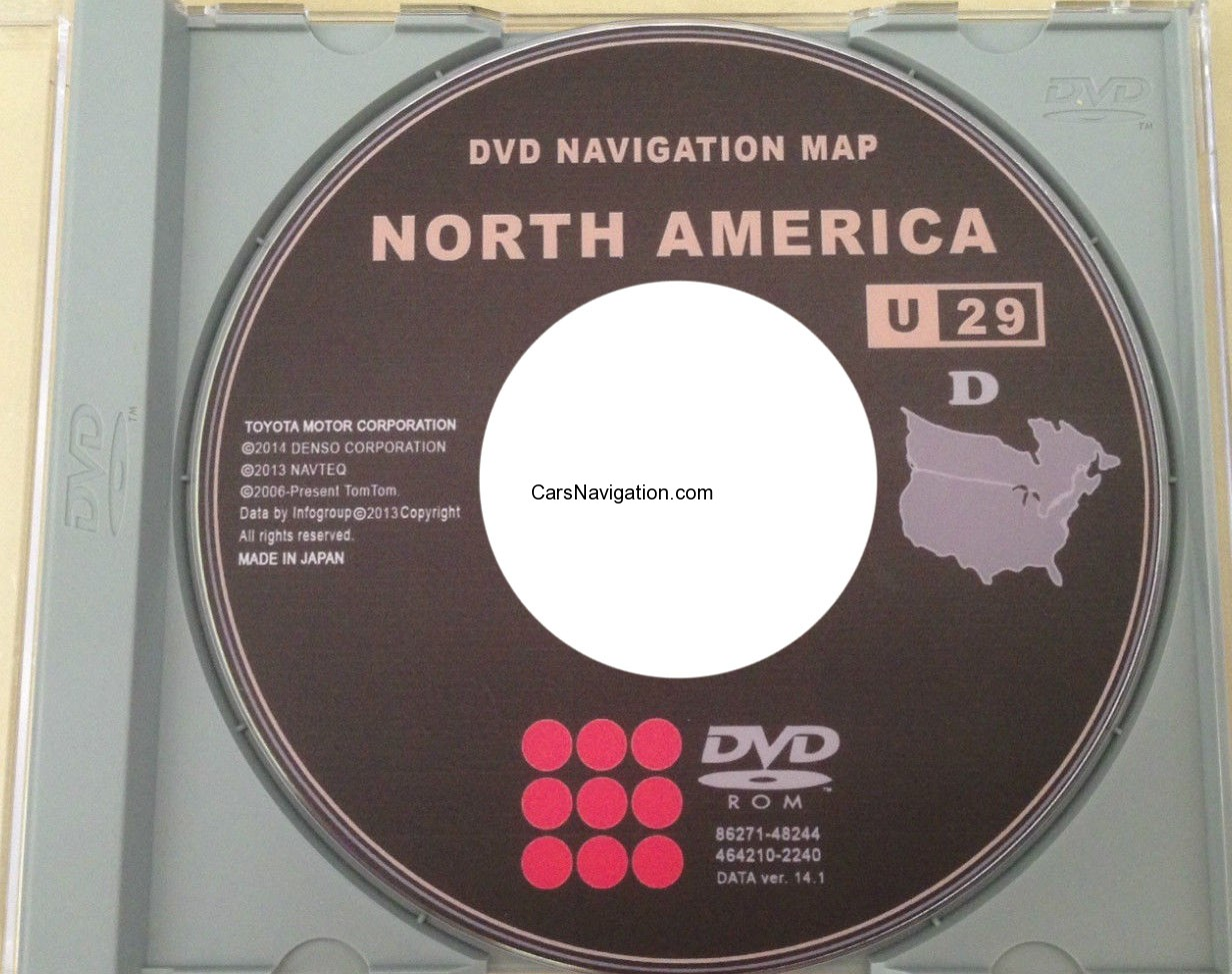 Toyota Lexus Gen 4 Navigation Update 2015 Map DVD U29 v 14.1
