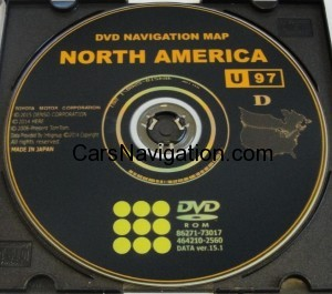 Toyota Navigation 2016 Map Update DVD Gen 6 V15.1 U97
